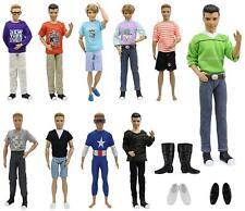 10x Barbie's Boy Friend Ken Doll Clothes 3x Shoes Summer Accessories Outfits Top