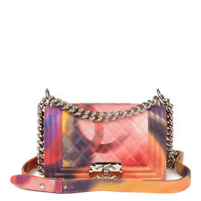 CHANEL MULTICOLOUR QUILTED LAMBSKIN LEATHER FLOWER POWER SMALL LE BOY HB2386 b40a5355c3d90