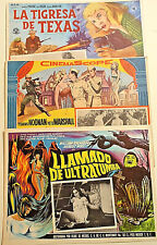 3-Vintage MEXICAN LOBBY CARDS-Devils of Darkness+Bonnie Parker Story+The Rookie