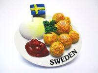 Köttbullar Magnet Schweden Fleischbällchen Souvenir Poly Sweden