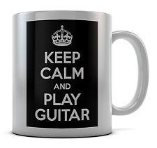 Keep Calm and Play chitarra Tazza Regalo Idea Regalo Caffè Tè