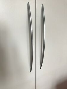 Silver Curved Wardrobe Handles 32cm