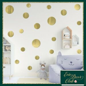 Large polka dots decals stickers.Many colours to Mix!Peel and Stick Dots Nursery