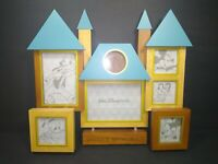 Rare DISNEY World PARKS MEMORIES Large Castle Wood Picture Frame 7 Openings!!
