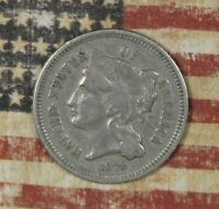 1873 THREE CENT NICKEL COLLECTOR COIN FREE SHIPPING