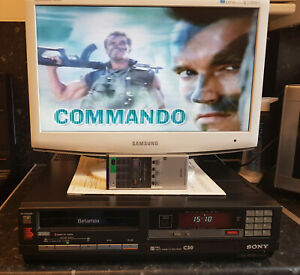 Sony SL-30UB Betamax Video Recorder--With Remote-Fully Reconditioned