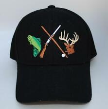 Fish Deer Rifle Pic Hunting Fishing One Size Dad Hat Baseball Cap