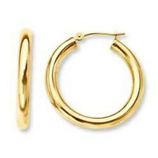 CHILD'S HYPOALLERGENIC GOLD HOOP EARRINGS - FREE SHIPPING