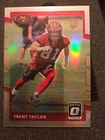 Trent Taylor rookie parallel - 2017 Panini Donruss Optic Silver Prizm