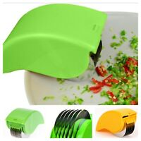Herb Cutter Roller Fast Vegetable Slicer Tool Stainless Steel Blade Kitchen Gift