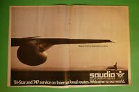 1982 RARE Original Advertising' American SAUDIA SAUDI ARABIAN AIRLINES AIRPORT
