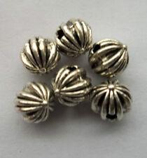 30pcs Tibetan silver charm spacer bead 8x7mm