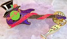 Hard Rock Cafe BOSTON 2002 New Years Party GUITAR PIN w/Champagne Glass Dangler