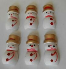 Paquete con 6 Hermoso Navidad Rojo Y Blanco Hombres de nieve para tarjetas &