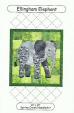 ELLINGHAM ELEPHANT Applique Quilt Pattern Wall Hanging Size - Nursery Zoo Animal