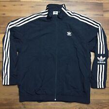 Adidas Lock Up Track Top Full Zip Jacket Black White Mens NEW