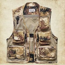 Mens Mesh Quick-Dry Multi-Pockets Outdoor Travel Fishing Photography Vest Jacket