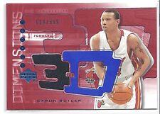 2003-2004 Triple Dimensions Caron Butler 3-D Miami Heat Warm-Up Card #619/999