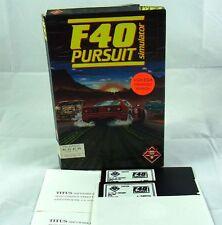 PC DOS: F40 Pursuit Simulator - Titus 1989
