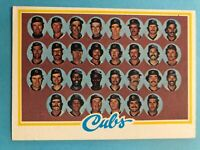 1978 Topps Baseball Team Card with Unmarked Checklist - Pick Your Favorite Team