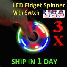 UPGRADE VERSION SWITCH CONTROL 3 MODE LED HAND SPINNER EDC TOY FIDGET LOT OF 3X