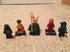 5 Mini Figures Iron Man, Loki, Darth Vader, Not all Lego