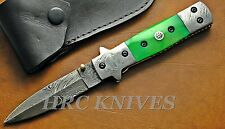 "DC11 ~ 8"" CUSTOM HRC DAMASCUS DOUBLE EDGED TACTICAL COMBAT KNIFE W/ MOSAIC PIN"