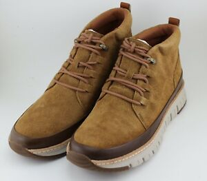 NEW COLE HAAN GRAND SPORT RUGGED CHUKKA SUEDE BOOTS BROWN HONEY SHOES MEN'S