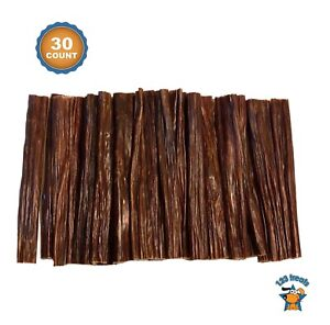 "Beef Stick Dog Treats - 100% Natural Esophagus Chews for Dogs (6"" - 30 Count)"