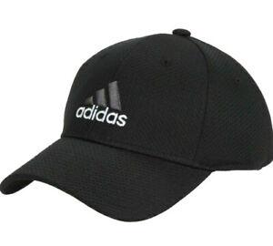 NEW Adidas Men's Zags Ii A-flex Cap Hat Black S/M