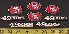 San Francisco 49ers NFL Team Fabric Iron On Applique Patch NO SEW Logo DIY Craft