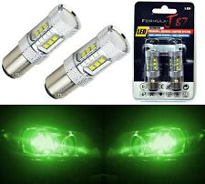 LED Light 80W 1157 Green Two Bulbs Front Turn Signal Replace Show Color JDM Lamp