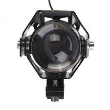 1x Moto Universel Phare LED Clignotant Projecteurs Laser Lumière Externe U5 Noir