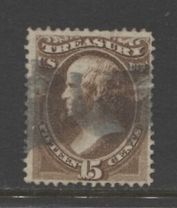 1873 United States 15 cents Treasury Department O79  used