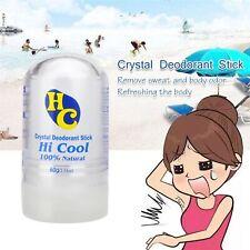 Crystal Salt Deodorant Pure Alum Rock Stick Antiperspirant No Chemicals Safe Use