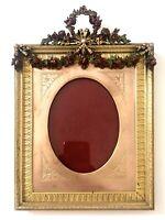 """EXCEPTIONNEL Cadre Photo """"Louis XVI"""" Bronze et bronze polychromé 1900 XIX FRAME"""