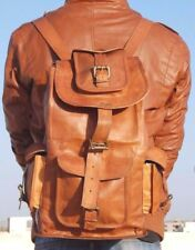 Leather Back Pack Rucksack Travel Bag For MeN and Women New Genuine Large