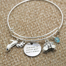 Cinderella Inspired bracelet A Dream is a Wish Your Heart Makes Silver tone