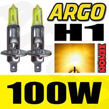 2 X YELLOW H1 100W HALOGEN CAR DRIVING HEADLIGHT FOG LIGHT BULBS 12V REPLACEMENT