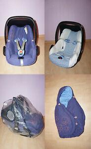 Maxi-Cosi Pebble Babyschale Lila 0-13 kg, Sitzverkleinerung Fußsack Sommerbezug