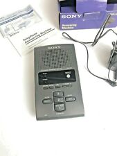 Sony Digital Telephone Answering Machine TAM-100 Gray 027242552357 TESTED works
