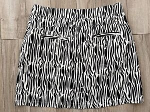 Daily Sports Golf Skirt Skort Sz 8 Animal Print Polyester Pockets GUC