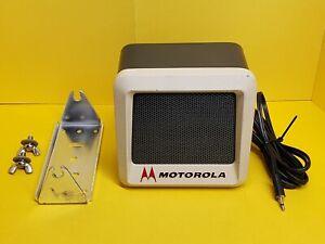 Vintage Motorola External Speaker complete with 3.5 mm Mono Plug and Bracket