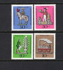 Germany 1969 TIN TOYS LOCOMOTIVE GARDENER KNIGHT SURTAX SC B450-453   MNH