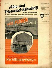 Der Auto-Markt 1949 42/49 Auto- u. Motorrad-Zeitschrift Knirps Simca 8 Sport 2CV