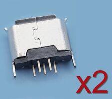 2x Connecteur à souder micro type B USB femelle 180°/ 2x Female connector solder