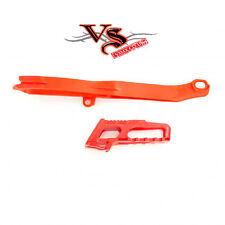 Polisport Guía De Cadena & Kit de deslizador Honda CRF250R 14-17, CRF450R 13-16 Rojo