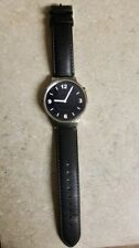 Huawei Watch 42mm Silver Stainless Steel Case Black Leather Band