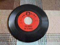 "1963 THE OLYMPICS 45 rpm THE BOUNCE & FIREWORKS Doo-wop/R&B 7"" Vinyl TRI-DISC"