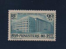 No 424xx90c+35c BLEU VERT  ORPHELINS DES P T T..1939...COTE  50 €. PRIX: 8,95 €